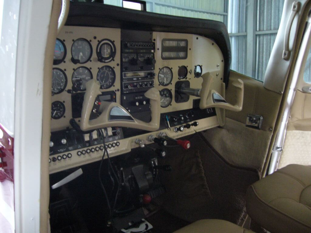 Panel refurbishment on a Cessna 210